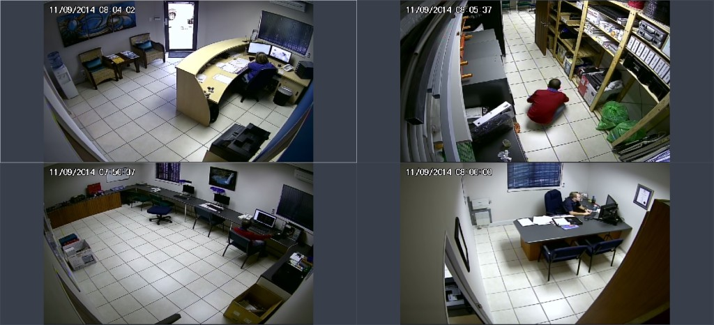 CCTV system daytime footage