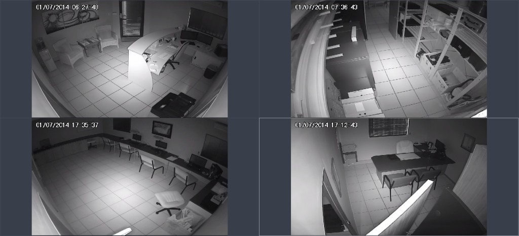 CCTV system infrared footage